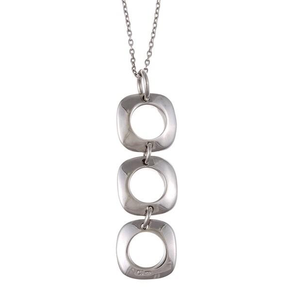 La Preciosa Sterling Silver Square Link Necklace