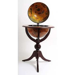 old modern handicrafts threelegged red globe pedestal