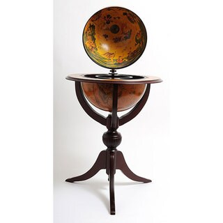 Old Modern Handicrafts Three-legged Red Globe Pedestal