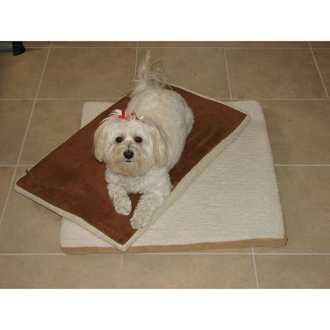 Crown Pet Slant Roof Small Pet Mat - Brown