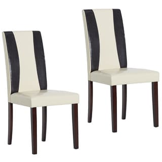 Warehouse of Tiffany Savana Bi-cast Leather Chairs (Set of 2)