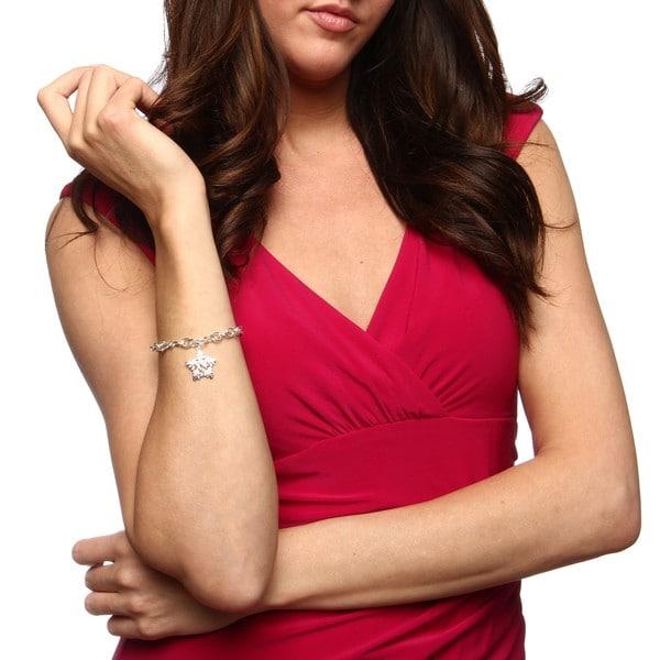 Sunstone Sterling Silver Infinity Star Charm Bracelet