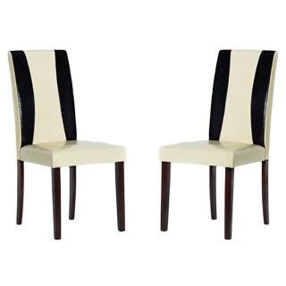 Tiffany Savana Faux Leather Chairs (Set of 4)