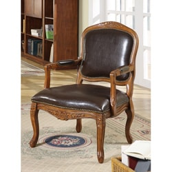 William's Home Furnishing Traditional Studded Occasional Chair