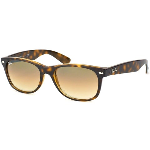 Ray Ban Women's RB2132 Shiny Havana New Wayfarer Sunglasses - Silver