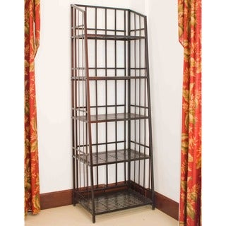 International Caravan Mandalay Iron 5-tier Indoor/Outdoor Bakers Rack
