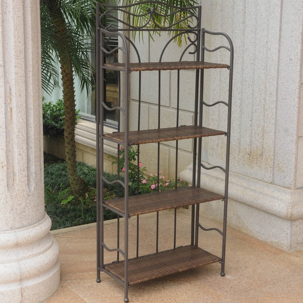 International Caravan Valencia Iron 4-tier Folding Bakers Rack