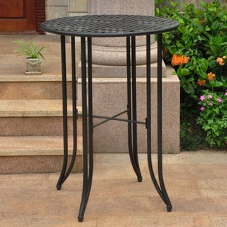 International Caravan Mandalay Outdoor Iron Bar Height Table