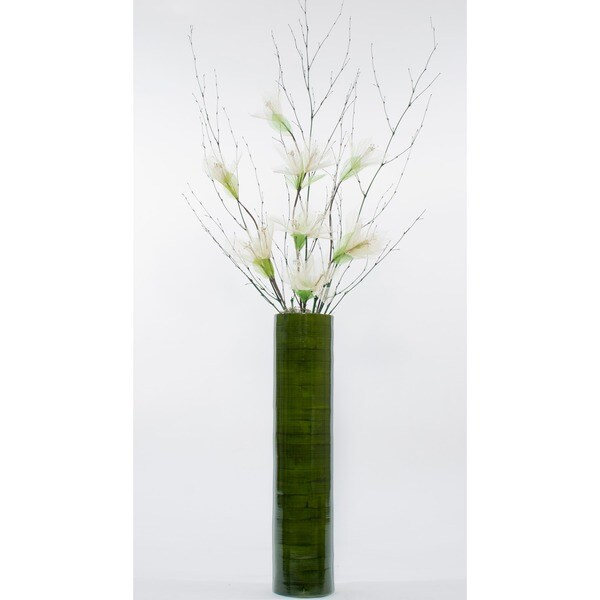 Ivory Lilies With 25 Inch Bamboo Floor Vase Free