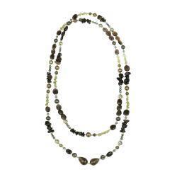 Glitzy Rocks Silver Multi-gemstone Endless 50-Inc Necklace