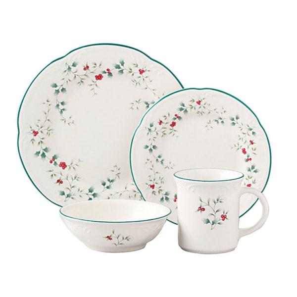 Shop Pfaltzgraff Winterberry 16-piece Dinnerware Set ...