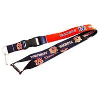 Auburn Tigers Reversible Clip Lanyard Keychain Id Ticket Holder
