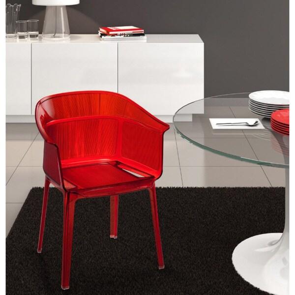 Verona Transparent Orange Dining Chairs (Set of 4)