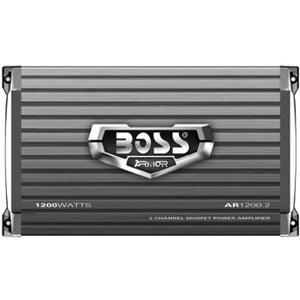 BOSS AUDIO AR1200.2 Armor 1200-Watt Full Range, Class A/B 2 to 8 Ohm