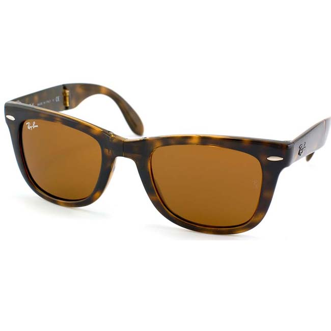 ray ban folding wayfarer tortoise sunglasses  ray ban unisex folding wayfarer 710 sunglasses