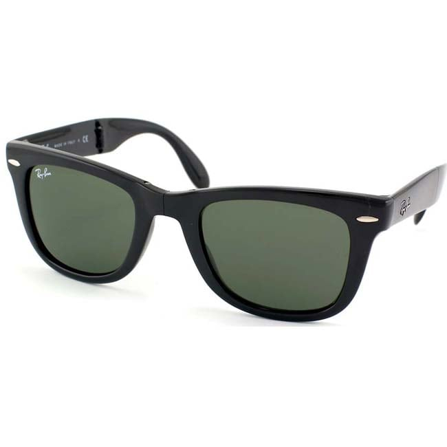 ladies folding ray ban sunglasses  ray ban women's rb 4105 folding wayfarer sunglasses