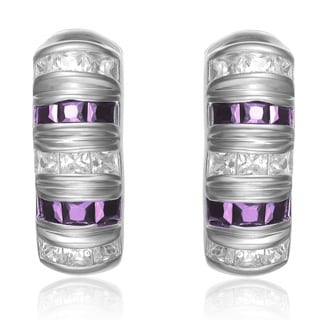 Collette Z Amethyst and Cubic Zirconia Earrings