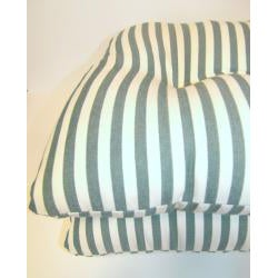 Green Stripe Chair Pads (Set of 2) - Thumbnail 1