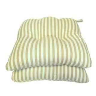 Tan Stripe Chair Pads (Set of 2)
