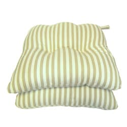 Tan Stripe Chair Pads (Set of 2)