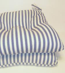 Blue Stripe Chair Pads (Set of 2) - Thumbnail 1