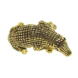14k Goldplated Clear Cubic Zirconia Alligator Ring