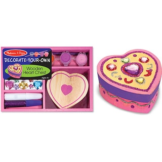 Melissa & Doug Wooden Heart Chest Dyo Kit