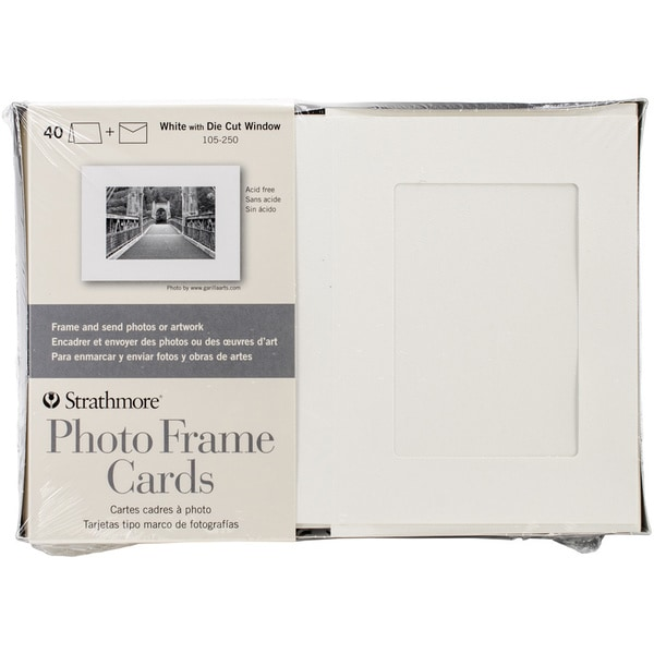 Strathmore White Photo Frame Greeting Cards (Pack of 40)