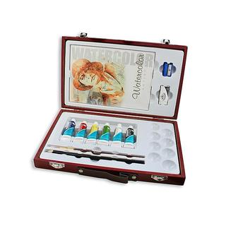 Royal & Langnickel Wooden Travel Easy Watercolor Box Set