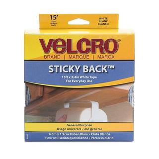 Hook and Loop White 0.75-inch Sticky Back Tape
