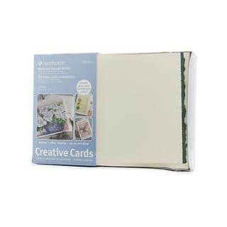 Strathmore White with Green Deckle Greeting Cards (Pack of 50)|https://ak1.ostkcdn.com/images/products/6169155/P13824482.jpg?impolicy=medium