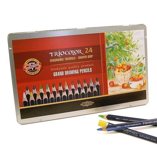 Koh-i-noor Triocolor Grand Pencils (Set of 24)