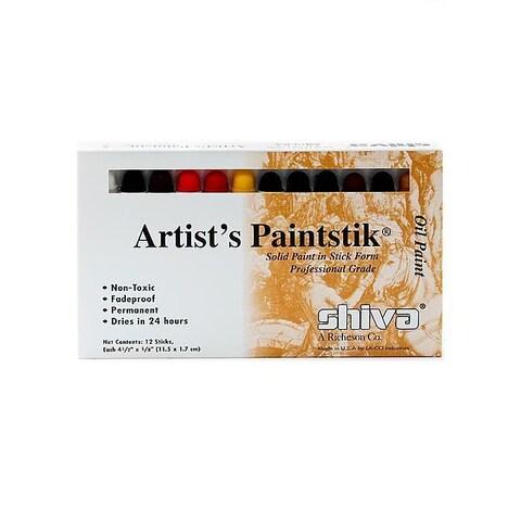Shiva Professional Artist's Paintstik Oil Colors Set