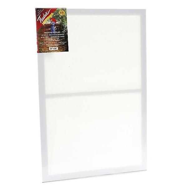 shop fredrix 24 inch x 36 inch red label pre stretched blank canvas
