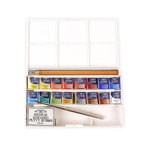 Winsor & Newton Deluxe Sketchers Pocket Box Cotman Watercolor Set
