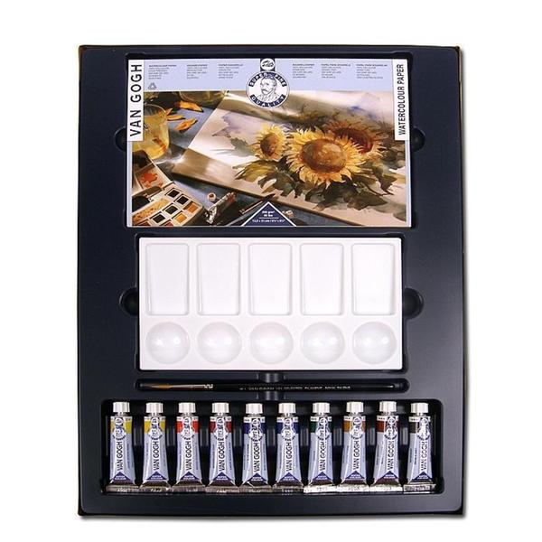 Van Gogh Water Colour Pocket Box with Accessories (Set of 11)