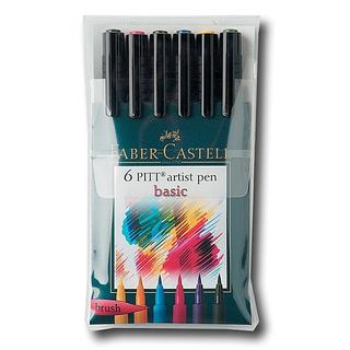 Faber-Castell Basic Pitt Artist Brush Pen Set