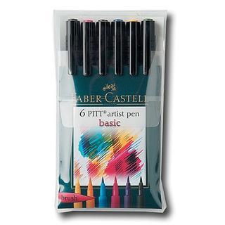 Faber-Castell Basic Pitt Artist Brush Pen Set