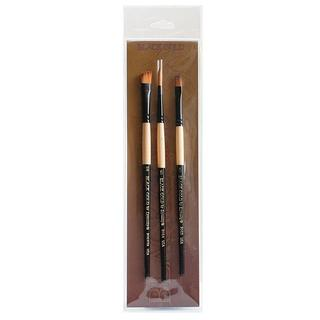 Dynasty Foliage/ Texture Black Gold Brush Set