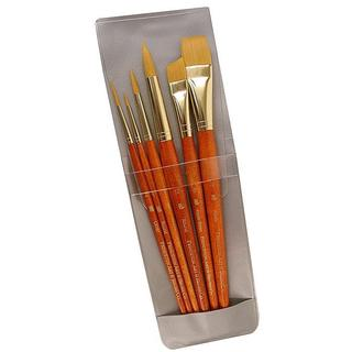 Princeton Short-handled 9153 Orange Real Value Brushes (Set of 6)