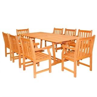 Casimir 9-piece Rectangular Wood Armchair Outdoor Dining Set