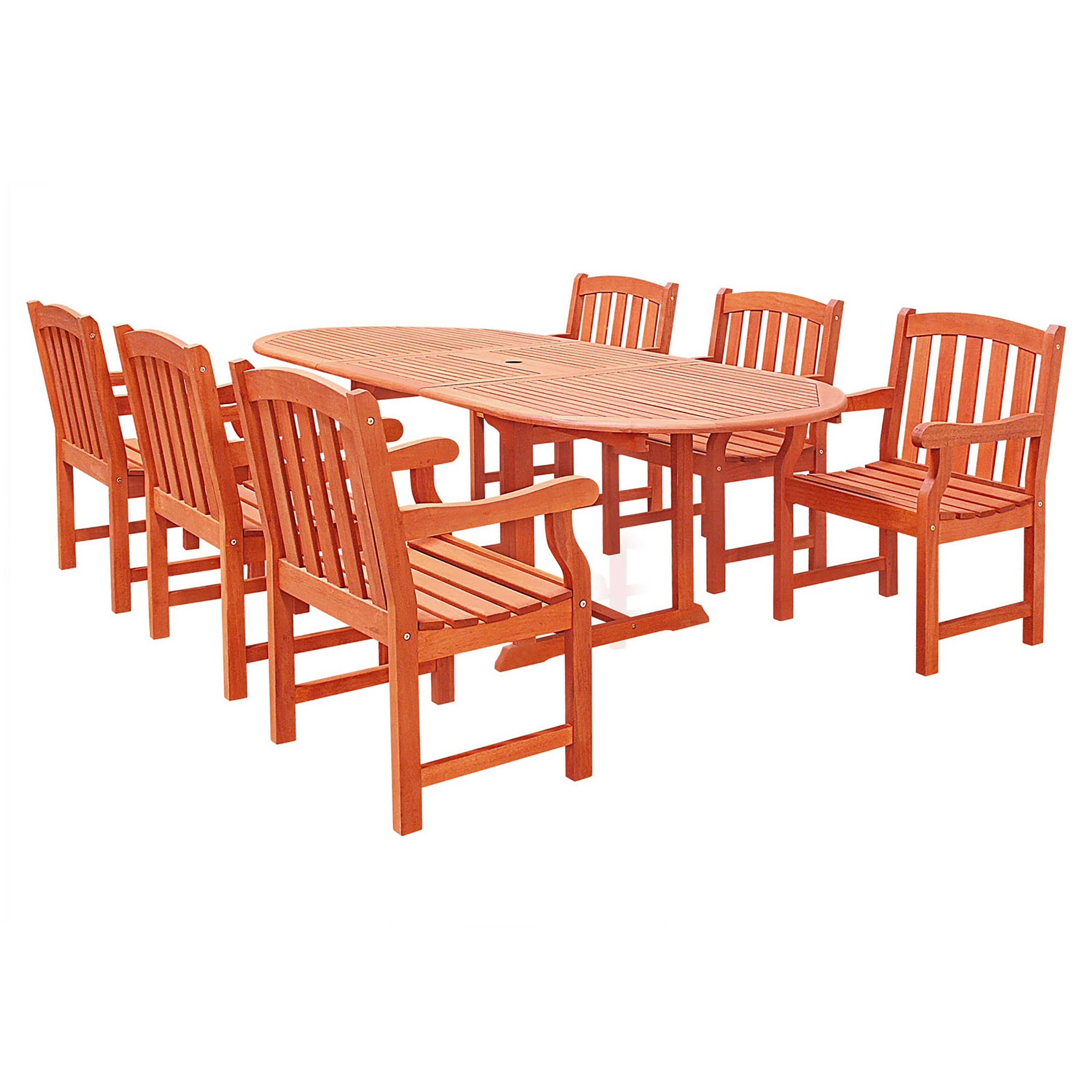 Casimir Oval Extension Table and Wood Arm Chair 7-piece O...