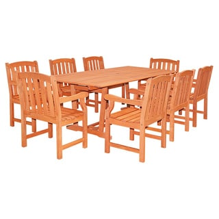 Havenside Home Surfside 91-inch Rectangular Extension Table and Armchair 9-piece Dining Set