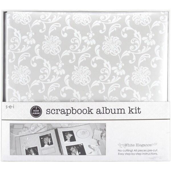 S.E.I One Hour 'White Elegance' Scrapbook Album Kit