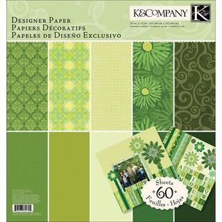 K & Company Green Sheer Simplicity Designer Paper Pad