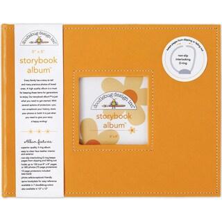 Doodlebug Tangerine Fabric 8-inch Storybook Album