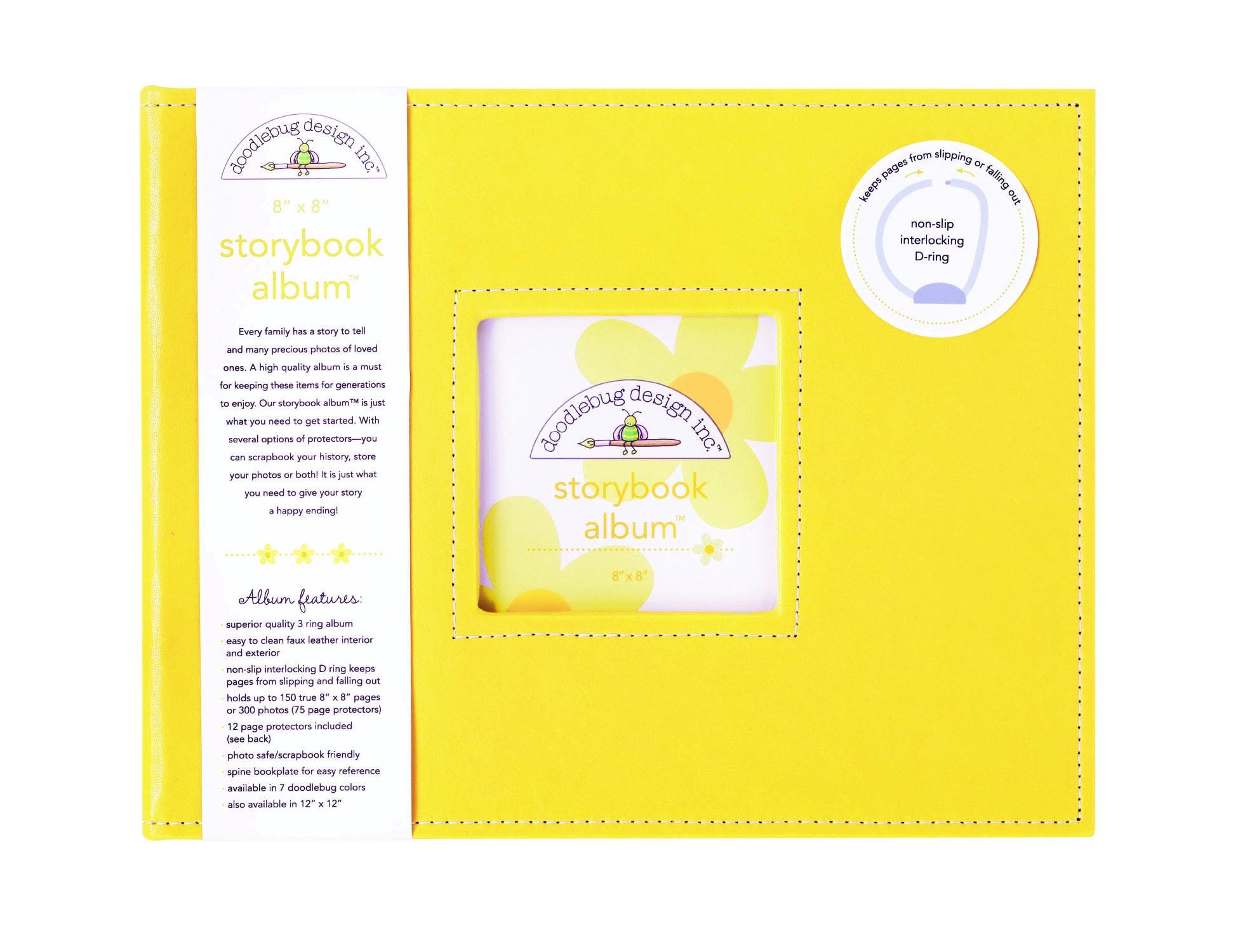 Doodlebug Bubblegum Pink Fabric 8 inch Storybook Album 2c1f1374 5bca 4f75 ad54 0a beede