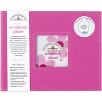 Doodlebug Bubblegum Pink Fabric 8-inch Storybook Album