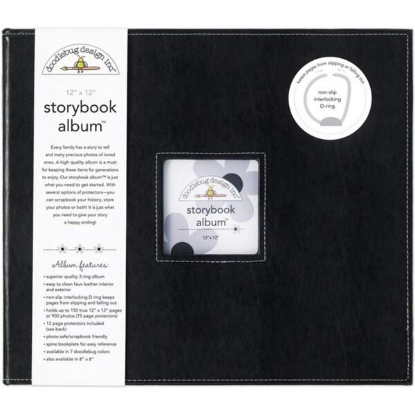 Doodlebug Beetle Black Fabric 12-inch Storybook Album