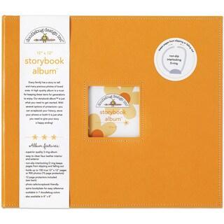 Doodlebug Tangerine Fabric Storybook Album (12' x 12')
